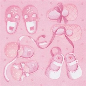 Pack of Baby Girl Shoe Napkins